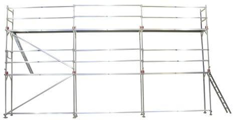 Fasadställning ALU Jumbo Superflex 8 x 9m