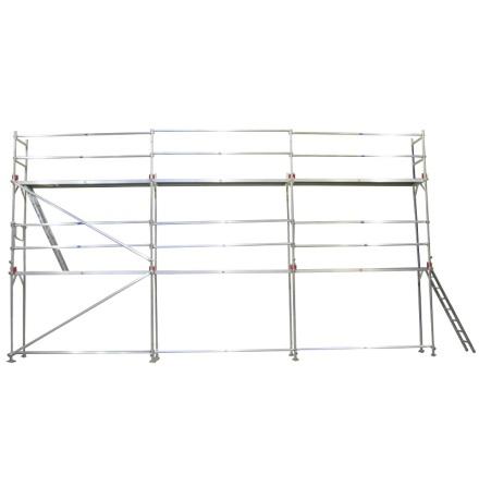 Fasadställning ALU Jumbo Superflex 8 x 12m